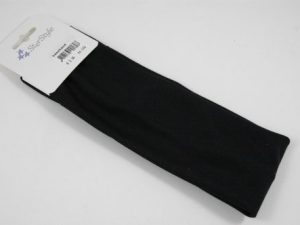 Haarband zwart 7 cm.